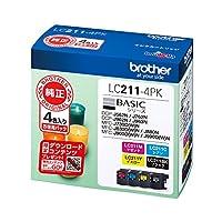【Amazon.co.jp限定】brother 純正インクカートリッジ 4色パック LC211-4PK+CT