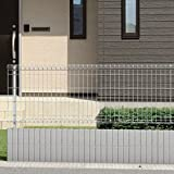 三協アルミ メッシュフェンスJE型 本体 H=800 JE1-2008-■ 【スチールフェンス 柵】  サンシルバー