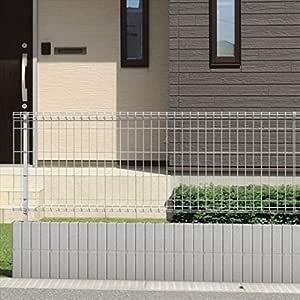 三協アルミ メッシュフェンスJE型 本体 H=800 JE1-2008-■ 『スチールフェンス 柵』 ダークブロンズ
