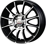 エーテック(A-TECH) タイヤホイール シュナイダー ラピートエックス ブラックポリッシュ 15x5.5 45 4H 100 0S804