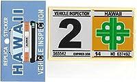 ハワイアン雑貨/ハワイアン 車検ステッカー/レプリカ 2月 【ハワイ雑貨】【お土産】