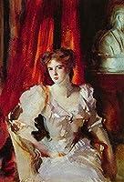 ¥5K-200k 手書き-キャンバスの油絵 - 美術大学の先生直筆 - 15 名画 - Miss Eden 肖像 Sargent ジョン・シンガー・サージェント 女性 - 絵画 洋画 手描複製画 -06