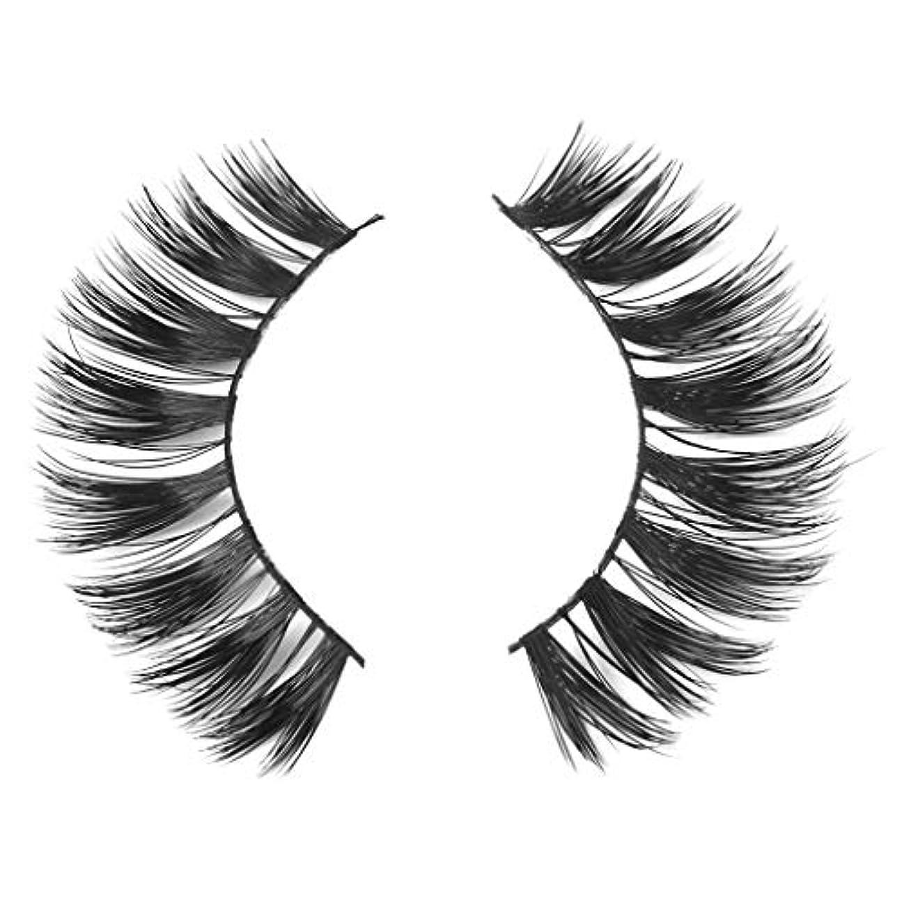 消防士予想外怒るミンクの毛の自然な厚くなる化粧品の3D版のための一組のまつげ