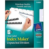 AVE11430 - Index Maker Clear Label Unpunched Divider by Avery????