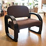 モリーナ ら〜くらく座椅子 コンパクト 立ち座りサポート肘掛付き 高さ3段階調整 [ブラウン] チェア コンパクト スツール