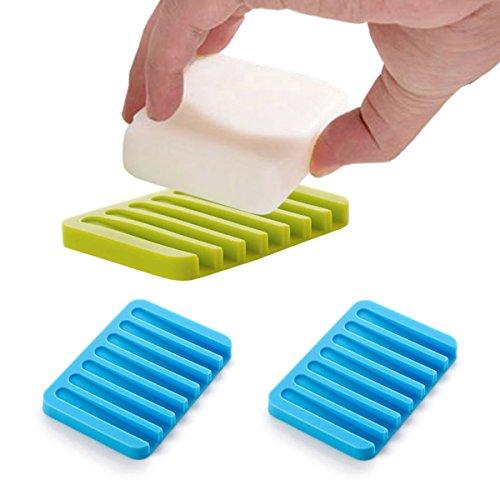 ZooooM 3個セット 石鹸 置き場 水切り 洗面台 キッ...