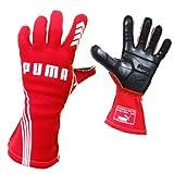 PUMA レーシンググローブ PODIO (ポディオ) レッド 外縫いタイプ FIA公認 サイズ10(L)