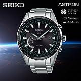 SEIKO ASTRON(セイコー アストロン)フルチタンボディ GPS ソーラーウオッチ SSE085J1 国内品番 SBXB085 8Xシリーズ ワールドタイム GPS 衛星電波 腕時計 軽量 薄型 アナログ シンプル ブラック 黒色 [並行輸入品]