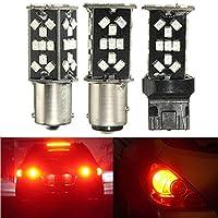 ILS - T20 1156 1157 15W Red LED Brake Light 48SMD Canbus Reversing Lamp Car Stop Bulb
