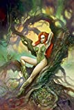 "Poison Ivy : "" Pretty Poison "" by Alex Horley???Officially Licensed DC Comics Giclee on Paper Le 250???新しいwith COA???Personally hand-signedによって発行???Clampett Studios"
