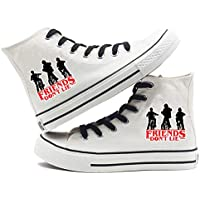 Stranger Things Unisex Canvas Shoes Hi-Top Lace-up Fashion Sneaker-1