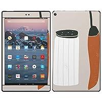 igsticker Kindle Fire HD 10 第7世代 全面スキンシール タブレット tablet シール ステッカー ケース 保護シール 背面 015738 塩 とうがらし 食べもの