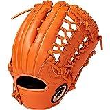 asics(アシックス) 軟式 野球用 グローブ 外野手用 (右投げ用) 一般用 DIVE サイズ11 2019年モデル 3121A134 オレンジ LH(右投げ用)