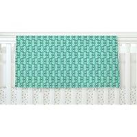 KESS InHouse Holly Helgeson Mod Pod Teal Pattern 30 x 40 Fleece Baby Blanket 40 x 30 [並行輸入品]