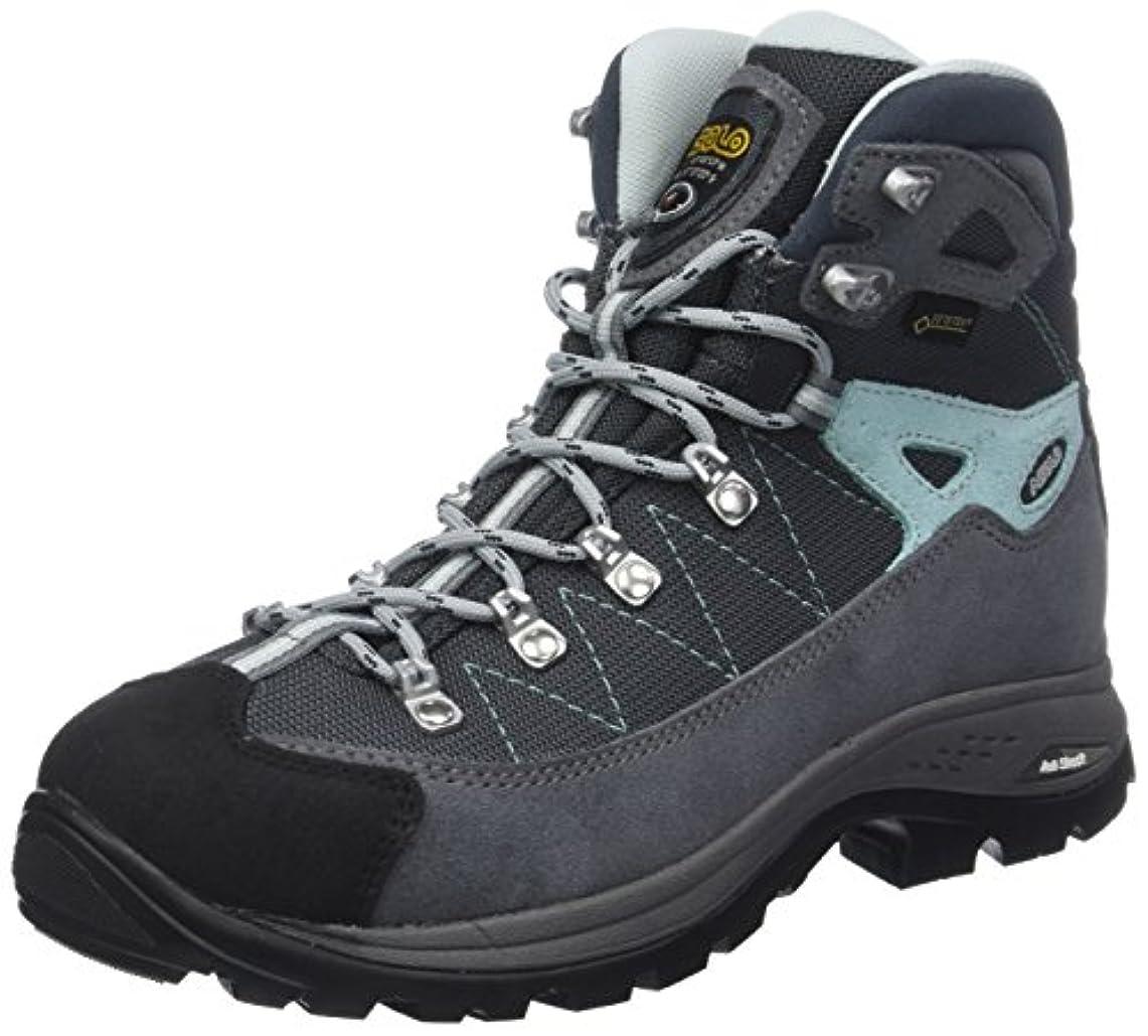 例外応用起点(6 UK, Grey (Grigio/Gunmetal/Bleu Pool A177)) - Asolo Women's Finder Gv ml High Rise Hiking Shoes