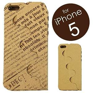 1枚のダンボールからつくる、iPhone5ケース「iPhone PAPER JACKET」 (iPhone5用 NewsPaper) IPJ5-NEWS