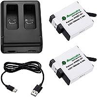 Powerextra GoPro Hero7 GoPro HERO5 Gopro HERO6用バッテリー2個+USB急速デュアル充電器 2個同時充電可能 GoPro Hero5 v02.60 v02.51 v02.00 v01.57 v01.55 v1.60使用可能 品質保証