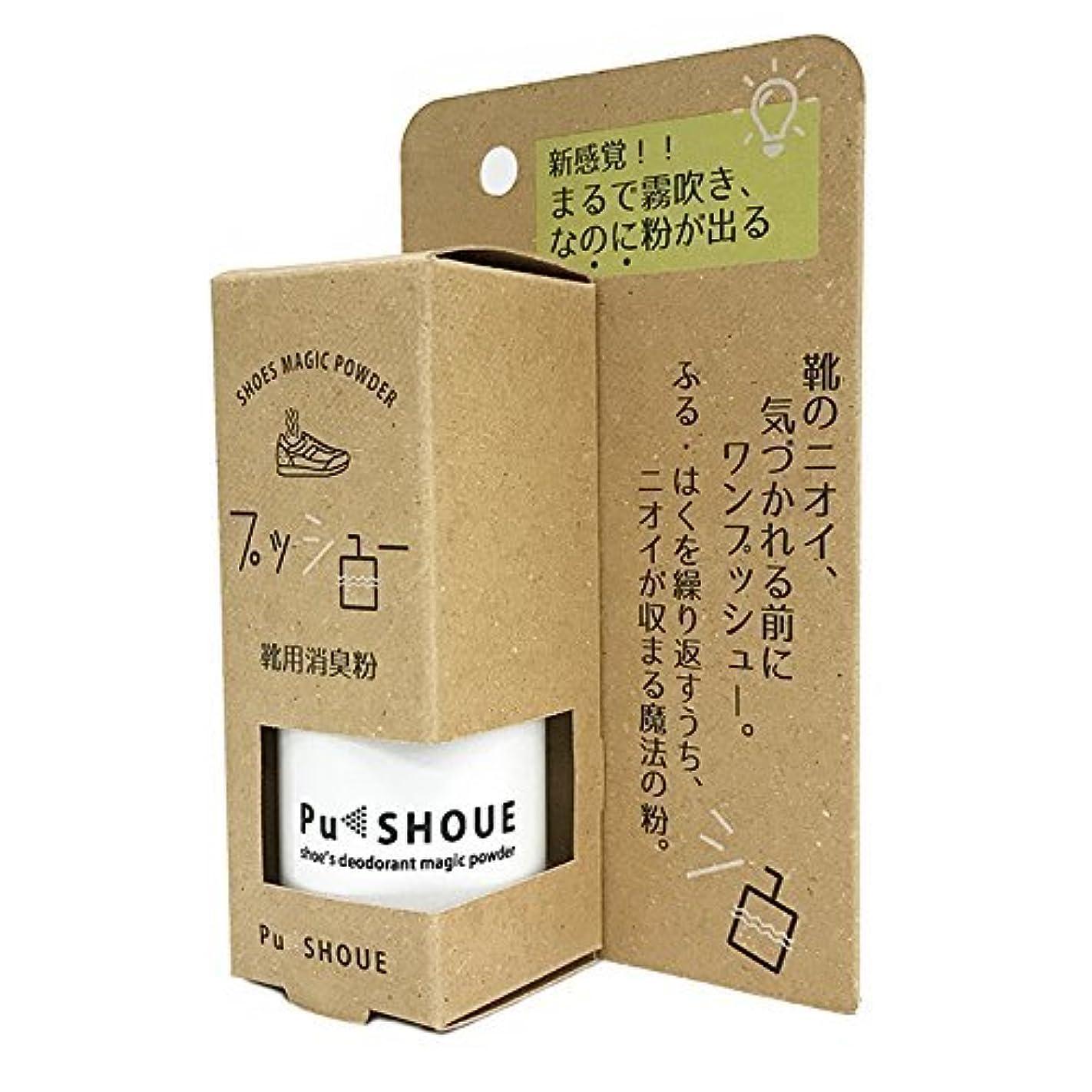 プットハリケーンチョコレートPu SHOUE プッシュー 無香料【スプレータイプで持ち運びOK 靴用消臭粉 1100回分】