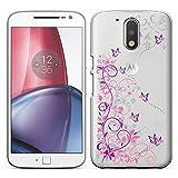 「Breeze-正規品」iPhone ・ スマホケース ポリカーボネイト [透明-Purple] モトローラ G4 プラス カバー Motorola Moto G4 / G4 Plus ケース [G4 Plus]