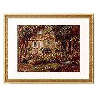 ピエール=オーギュスト・ルノワール Pierre-Auguste Renoir 「Gartenlandschaft mit Haus.」 額装アート作品