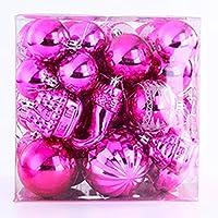SUJESI クリスマスボール クリスマス オーナメント ボール 44個入り 70個入り 北欧 インテリア ツリー 飾り 雑貨 (ローズ)
