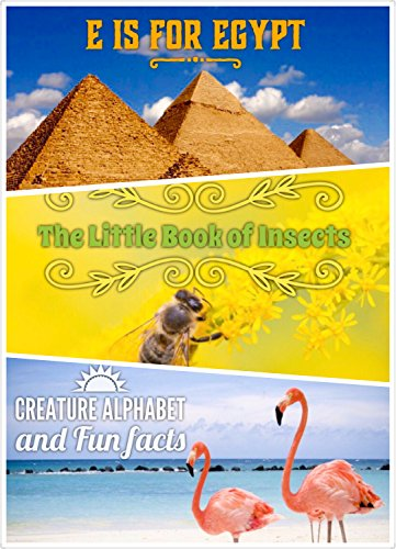 Children's books: (3 in 1) The Little Book of Insects + E is for Egypt Country Alphabet + F is for Flamingo, Picture books for kids, animal photos: books ... stories national landmarks (English Edition)