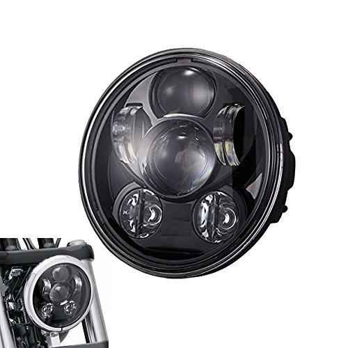 SILIVN ハーレー ダビッドソン用5.75インチ LEDヘッドライトライト 最新型 ブラック Hi/45W Lo/30W 6000K IP67 一年保証付き …