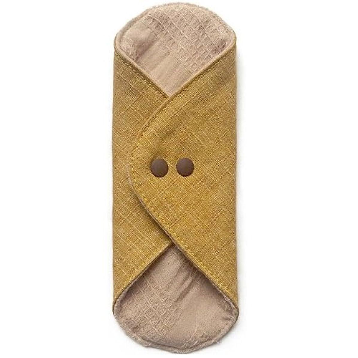 連隊ボックスいらいらさせる華布のオーガニックコットンのあたため布 Mサイズ(約15×約15cm) 彩り(山吹)