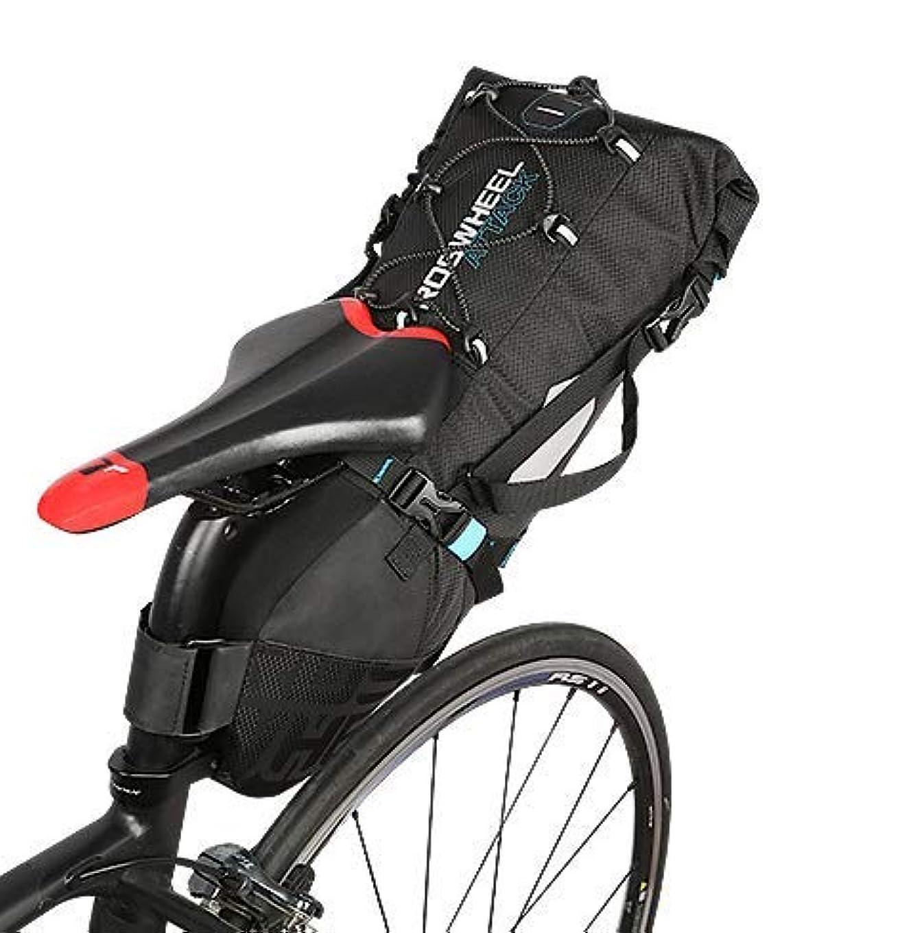 記憶に残る容器くびれたフェリモア 自転車 サドルバッグ 大容量 防水 シート リア バッグ 防塵 軽量 反射 ボックス