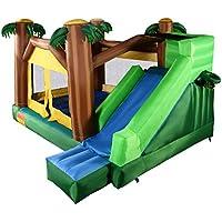 KCHEX>> 空気注入式ムーンウォーク ジャングルバウンスハウス ジャンパー バウンシー ジャンプ バウンサー キャッスル >優れた全体的な特徴で、裏庭、屋内、寝袋などに最適なバウンスハウスです。