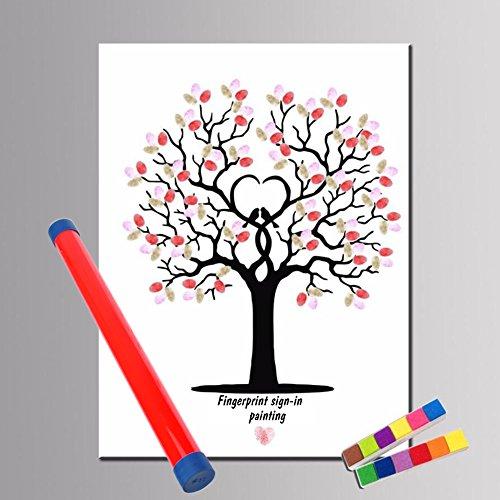 [해외]지문 트리 Astarye 스탬프 웨딩 트리 결혼식 피로연 방명록/Fingerprint tree Astarye wedding tree with stamp wedding reception wedding guest book