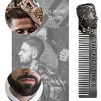 BEESCLOVER 男性のひげ模様スタイリング テンプレートステンレス鋼の髪型の櫛を聞く