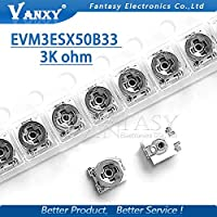 20pcsトリミング抵抗3kオーム3 * 3 EVM3ESX50B33 smd調整可能な抵抗3x3調整可能なSMDポテンショメーター抵抗