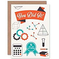 YOU DID PROUD GRADUATE SCIENCE ART GREETINGS GREETING CARD GIFT 広告科学挨拶贈り物