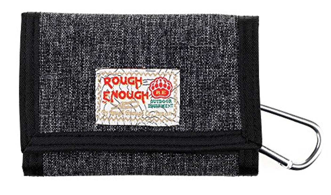 神話加速度ホイットニーROUGH ENOUGH プレミアム耐久ミニコットンクラシックカジュアルウォレット財布 (ブラック)