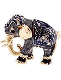 Baosity Gold Elephant Animal Enamel Design Brooch Pins Fashion Jewelry For Womens
