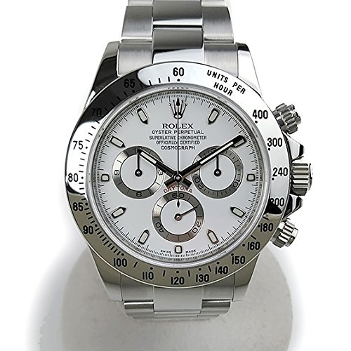 [ロレックス]ROLEX 腕時計 コスモグラフ デイトナ ホワイト G番 メーカーオーバーホール済み 116520 メンズ 中古