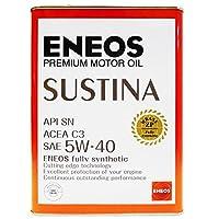 ENEOS (エネオス) SUSTINA (サスティナ) エンジンオイル SN 5W-40 100%化学合成油 4L缶 (1)