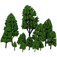 【ノーブランド品】樹木 モデルツリー 鉄道模型 風景  箱庭用 12本セット