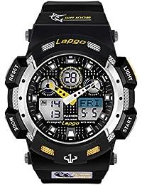 スポーツ腕時計 デジタル表示と指針表示「カウントダウン タイマー 第二時間帯 アラームなど機能あり」16気圧防水 日常生活防水 軽量 防衝撃 ELライトつき メンズ