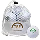 TOBIEMON(トビエモン) ゴルフボール 公認球 2ピース 1ダース(12個入り) ホワイト メッシュバック入り TBM-2MBW
