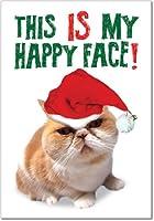 Happy FaceクリスマスJoke Greeting Card 12 Christmas Card Pack (SKU:B5940)