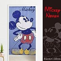 メール便送料無料 のれん ミッキー3 約85×150cm ブルー みんな大好きミッキーのれん♪ ディズニー Disney mickey タペストリー おしゃれ ミッキーマウス