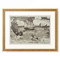 エドゥアール・マネ Edouard Manet 「Marine, ca. 1865-1866.」 額装アート作品