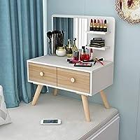 小さなドレッシングテーブル、学生のベッドルームドレッシングテーブル木製小型コンピュータデスクリビングルームのコーヒーテーブルの複数の色 (Color : #3, Size : 70*40*46CM)