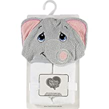 Precious Moments Tuk Elephant White/Grey Hooded Towel