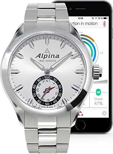 Alpina Geneveメンズal-285s5aq6bアナログSwiss QuartzシルバーHorological Smartwatch