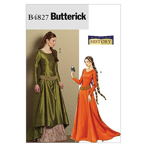 [Butterick] cosplay costume medieval costume pattern set size:US6-8-10-12