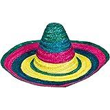 Amscan Cinco De MayoフィエスタパーティーカラフルなストライプSombrero帽子、マルチカラー、9 x 18