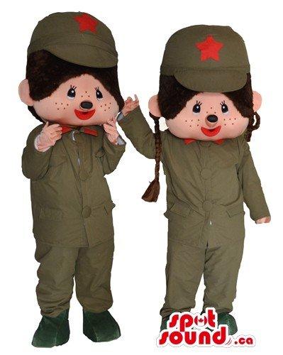 ハリネズミの兵士の漫画のキャラクターのペアマスコットカナダの衣装をSpotSound